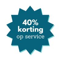 40% korting op service