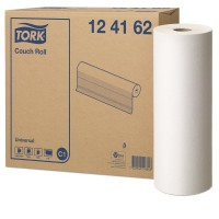 Onderzoekbankpapier Tork 1-laags 45cm x 185m, doos 2 rollen
