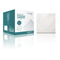 Klinion gaaskompres nonwoven 4-laags 10x10cm