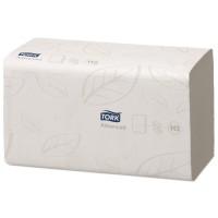Tork papieren handdoek advanced 2 laags singlefold H3 wit 3750 stuks
