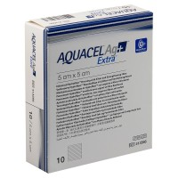 Aquacel AG+ Extra Hydrofiber wondverband steriel 5x5cm