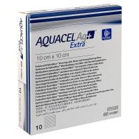Aquacel AG+ Extra Hydrofiber wondverband steriel 10x10cm