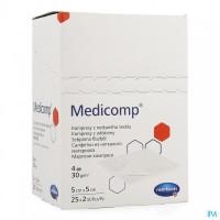 Medicomp gaaskompres nonwoven steriel 4-laags 5x5cm
