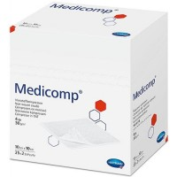 Medicomp gaaskompres nonwoven steriel 4-laags 10x10cm
