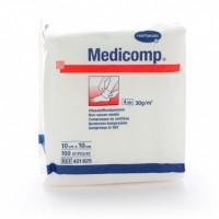 Medicomp gaaskompres nonwoven 4-laags 10x10cm