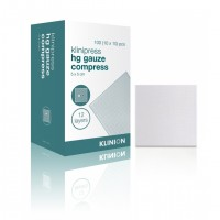 Klinion gaaskompres HG steriel 12-laags 5x5cm 100 stuks