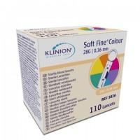 Klinion Diabetes Care Soft fine lancetten 28G 110 stuks