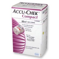 Accu-Chek Compact glucose teststrips 51 stuks