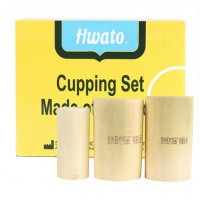 Cupping set bamboe 3-delig