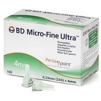 BD Microfine Ultra pennaald 0,23 x 4mm (32G) 100 stuks