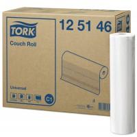 Onderzoekbankpapier Tork 1-laags 39cm x 50m, doos 8 rollen