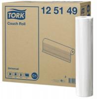 Onderzoekbankpapier Tork 1-laags 49cm x 50m, doos 8 rollen