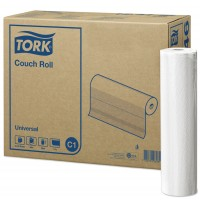 Onderzoekbankpapier Tork 1-laags 55cm x 50m, doos 8 rollen