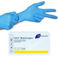 Bestgen Nitril handschoenen Blauw poedervrij 100 stuks