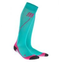 CEP Pro Run 2.0 Sport compressiekousen Turquoise/Roze