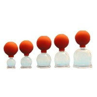 Cupping set glas met ballon 5-delig