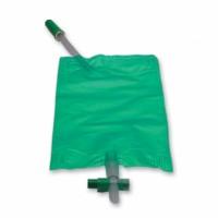 Curion curibag urinebeenzak groen met kruiskraan 10cm 0,50 liter 40 stuks