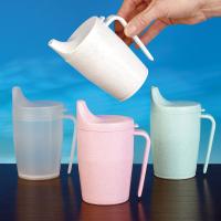 Drinkbeker met greep transparant