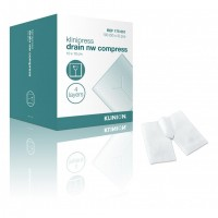 Klinion drainkompres splitkompres NW steriel 4-laags 10x10cm