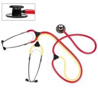 Les stethoscoop dubbelzijdig rood/geel