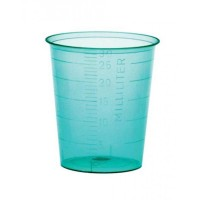 Medicijnbekers (pp) 30 ml blauw 4800 stuks