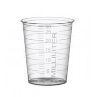 Medicijnbekers (pp) 30 ml transparant 75 stuks