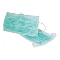 Mondmaskers met oorelastieken groen 50 stuks