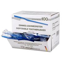 Wegwerp tandenborstels met tandpasta 100 stuks