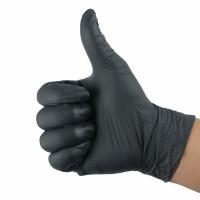 Nitrile handschoenen poedervrij Zwart