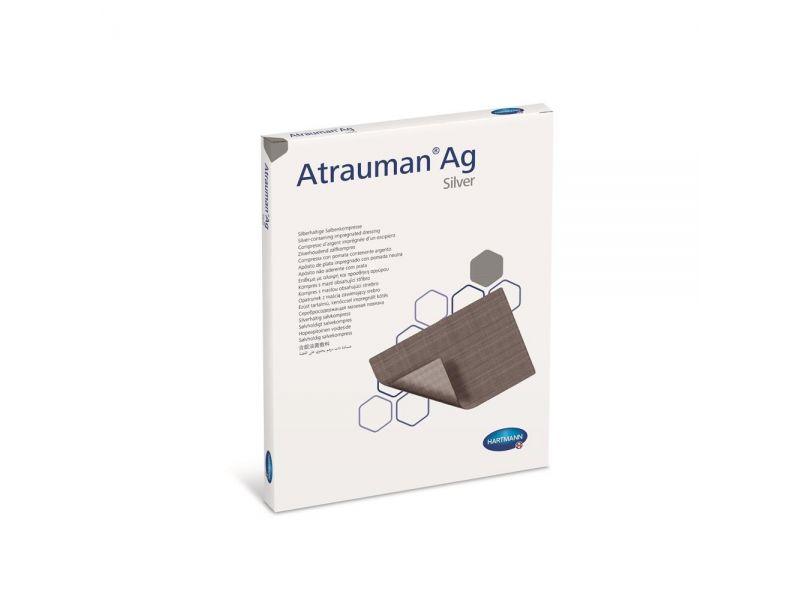 Atrauman Ag zalfkompres 10x10cm steriel