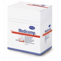 Medicomp gaaskompres nonwoven steriel 4-laags 10x20cm