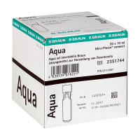Mini-Plasco Aqua steriel water voor injecties 10ml (20 ampullen)
