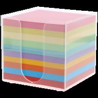 Memo blokjes gekleurd in houder