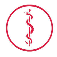 Aesculaapteken statisch rond arts rood
