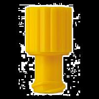 Afsluitdopjes voor injectiespuiten geel 100 stuks