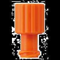 Afsluitdopjes voor injectiespuiten oranje 100 stuks