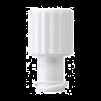 Afsluitdopjes voor injectiespuiten wit 100 stuks