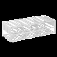 Reageerbuisrek kunststof wit voor 40 buisjes