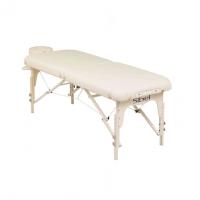 Massagebank inklapbaar met hoofdsteun beige