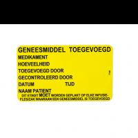 Sticker geneesmiddel toegevoegd 500 stuks