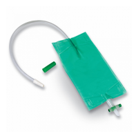 Curion curibag urinebeenzak groen met kruiskraan 45cm 0,50 liter 25 stuks