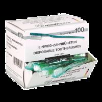 Wegwerp tandenborstels 100 stuks