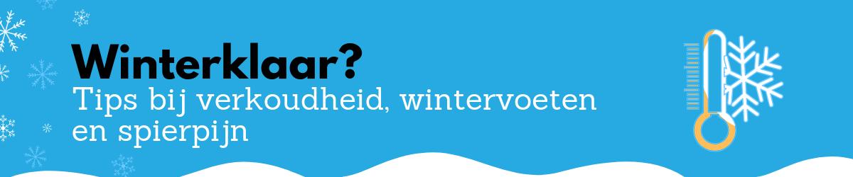 Winterklaar? Tips bij verkoudheid, wintervoeten en spierpijn