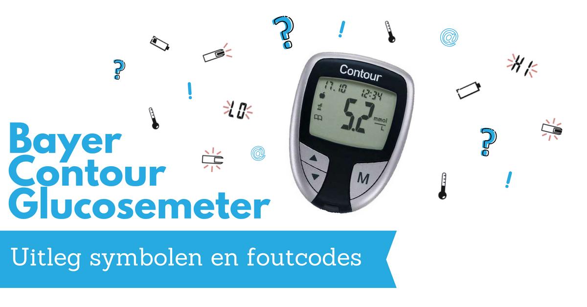 Uitleg foutcodes en symbolen Contour glucosemeter